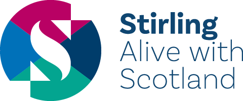Stirling alive with Scotland logo